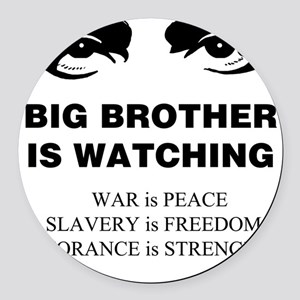 Big Brother is Watching I Round Car Magnet