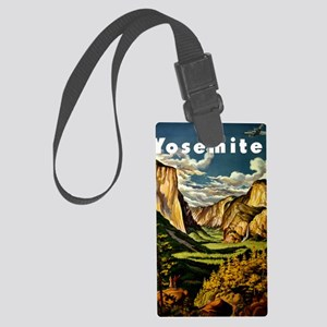 Vintage Yosemite Travel Large Luggage Tag