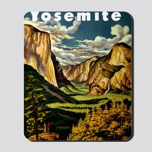 Vintage Yosemite Travel Mousepad