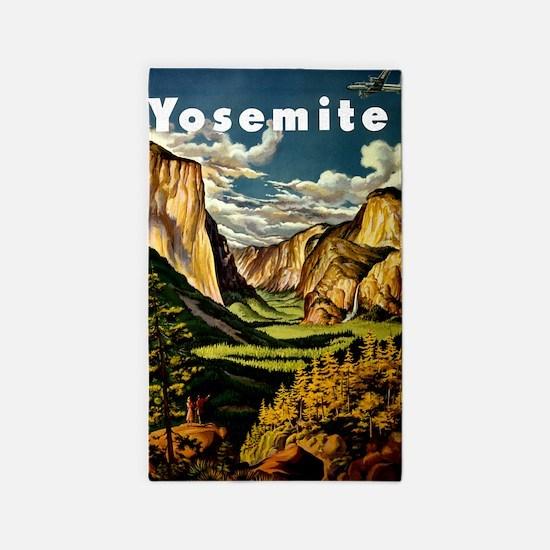 Vintage Yosemite Travel 3'x5' Area Rug