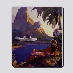 Vintage South Sea Isles Travel Mousepad