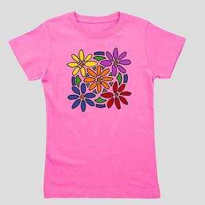 Colorful Daisy Floral Art Girl's Tee