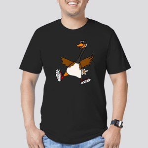 Cute Silly Goose Men's Fitted T-Shirt (dark)