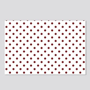 white with red dots Postcards (Package of 8)