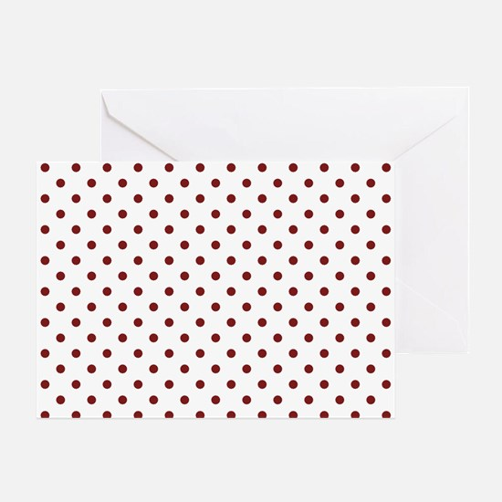 white with red dots Greeting Card