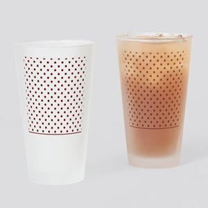 white with red dots Drinking Glass