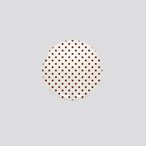 white with red dots Mini Button
