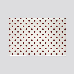 white with red dots Rectangle Magnet