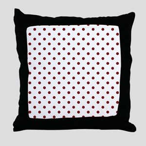 white with red dots Throw Pillow