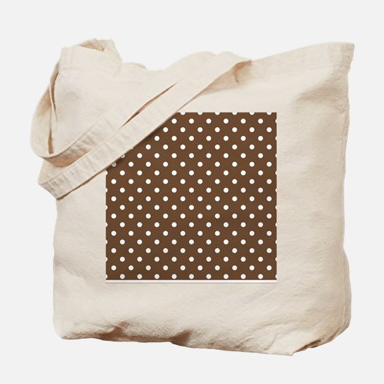 brown with white dots Tote Bag
