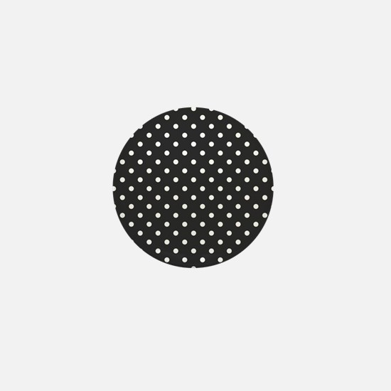 gray with white dots Mini Button