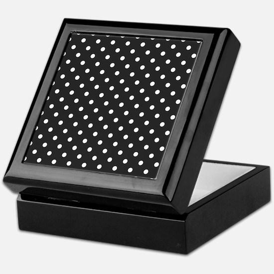 gray with white dots Keepsake Box