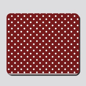 dark red with white dots Mousepad