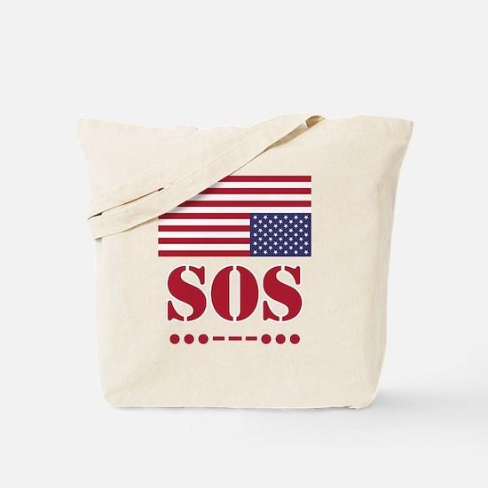 America SOS Tote Bag