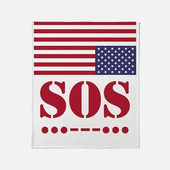 America SOS Throw Blanket