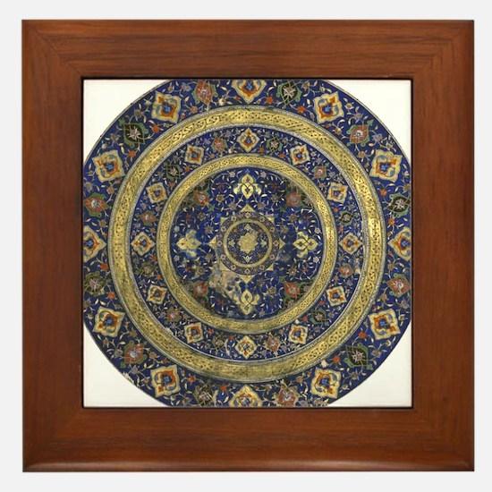 Persian Mandala Framed Tile