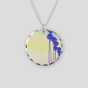 I Love Paradise Necklace Circle Charm