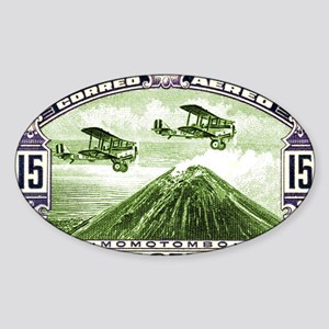 Antique 1931 Nicaragua Momotombo Vo Sticker (Oval)