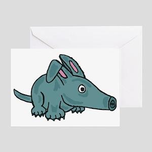 Funky Aardvark Greeting Card