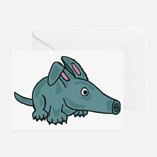 Funky Aardvark Greeting Card