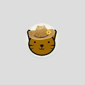 Farmer Kitty Mini Button