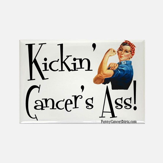 Kickin Cancers Ass! Rectangle Magnet