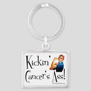 Kickin Cancers Ass! Landscape Keychain