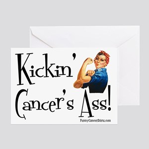 Kickin Cancers Ass! Greeting Card