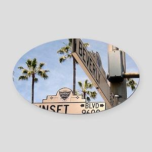 Sunset Blvd 9600 Oval Car Magnet