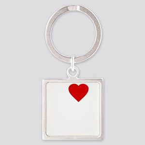I Love Motor Boating Square Keychain