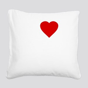 I Love Motor Boating Square Canvas Pillow