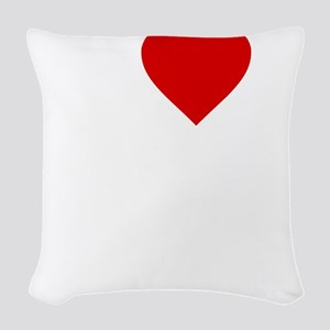 I Love Motor Boating Woven Throw Pillow