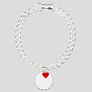 I Love Motor Boating Charm Bracelet, One Charm