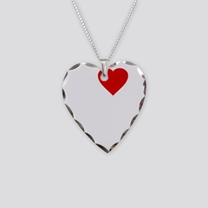 I Love Motor Boating Necklace Heart Charm