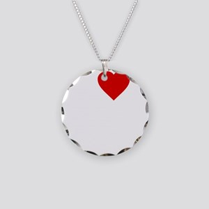 I Love Motor Boating Necklace Circle Charm