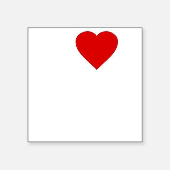 "I Love Motor Boating Square Sticker 3"" x 3"""