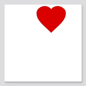 "I Love Motor Boating Square Car Magnet 3"" x 3"""