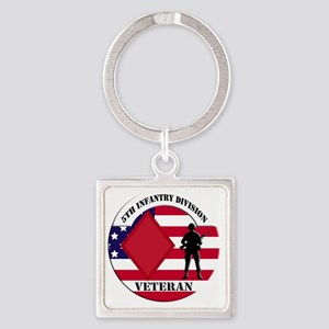 5th Infantry Division Square Keychain