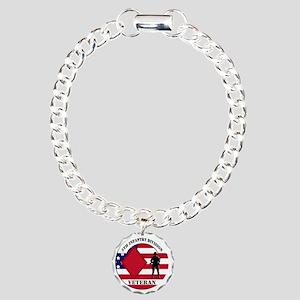 5th Infantry Division Charm Bracelet, One Charm
