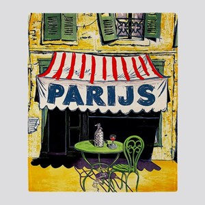 Vintage Paris France Travel Throw Blanket