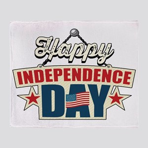 Happy Independence Day Throw Blanket