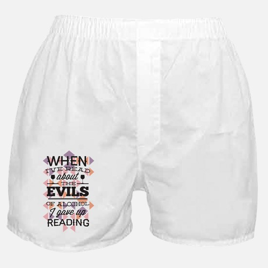 Evils of Alcohol Boxer Shorts