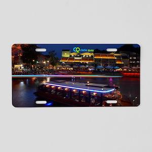 Night life ,  Clarke Quay-  Aluminum License Plate
