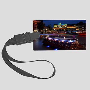 Night life ,  Clarke Quay- Singa Large Luggage Tag