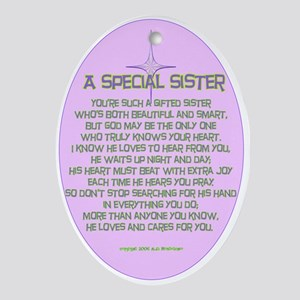 A Special Sister Keepsake (Oval)