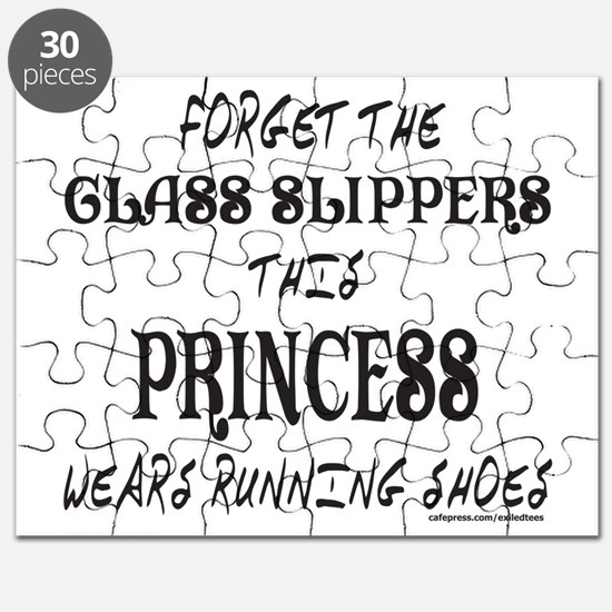 FORGET GLASS SLIPPER/WEARS RUNNING SHOES Puzzle