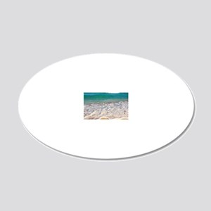 Tropical Beach 20x12 Oval Wall Decal