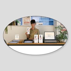 SARA SHAOUL : Bureau of Existential Sticker (Oval)