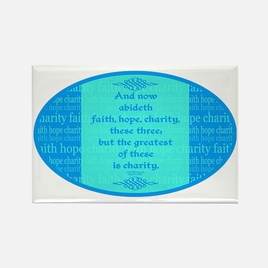 Faith Hope Charity Rectangle Magnet