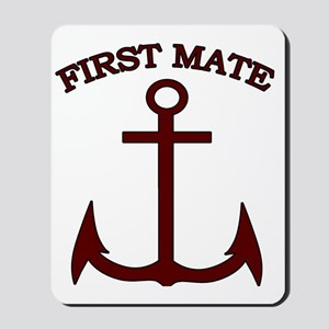 First Mate Boating Anchor Maroon Mousepad
